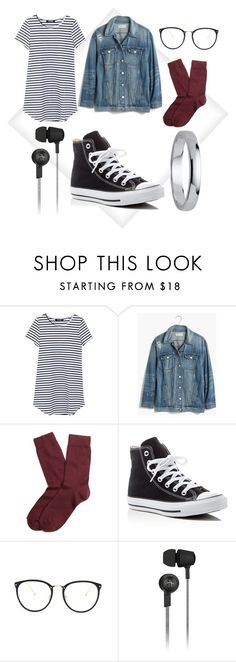 """OOTD"" by blind-mous3 ❤ liked on Polyvore featuring Madewell, Brooks Brothers, Converse, Linda Farrow, Original Penguin and Palm Beach Jewelry"