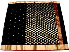 This handwoven chanderi saree is made of pure silk. Length is approx. 6.25 meter, and width is approx 45 inches. At the time of listing this product, this item is available. In case this item is sold out from our physical store, the full refund will be initiated back to you within 24 hours of making