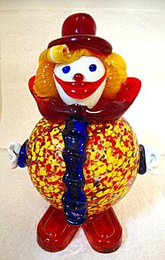 Art Glass Clown, Murano