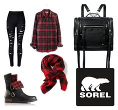 """Kick Up the Leaves (Stylishly) With SOREL: CONTEST ENTRY"" by tori-ann-mccormack ❤ liked on Polyvore featuring SOREL, Madewell, Old Navy, McQ by Alexander McQueen and sorelstyle"