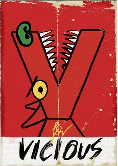 V for Vicious | Alphabet by Paul Thurlby. Candlewick, October 2011