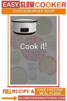 Super tasty, kid friendly cheeseburger crock pot soup! With crockpot, stovetop, pressure cooker, & freezer friendly directions! I hope this recipe helps you with your dinner preps and meal planning. Enjoy! | Slow Cooker Kitchen Homemade Chicken Gravy, Slow Cooker Kitchen, Cheeseburger Soup, Crock Pot Soup, Chicken Seasoning, Freezer Meals, Meal Planning, Crockpot, Tasty