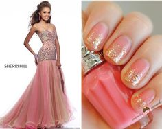 NewYorkDress Blog // Match Your Dress to Your Nail Art: Blush and Gold Edition // Click through for more fabulous nail art!