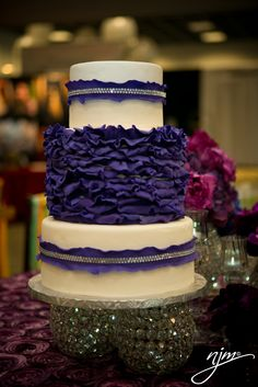 Purple Inspired Wedding Cake by A Legendary Event Executive Pastry Chef