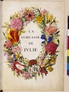 Plate from La Guirlande de Julie, Paris, 1875.  Bibliothèque Nationale de France.