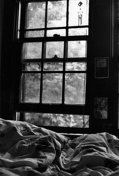 bed right beneath window