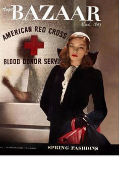 39 photos of iconic Harper's BAZAAR covers through the years: Lauren Bacall on the 1943 cover.