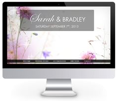 Floral theme wedding website by ourbigdayinfo.com - Test drive this for your wedding website today with a free trial Floral Theme, Wedding Website, Create Yourself, Weddings, Free, Beautiful, Wedding, Marriage