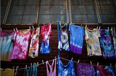 tie-dye clothesline