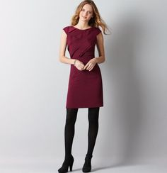 Love how this dress can be winterized with thick tights.