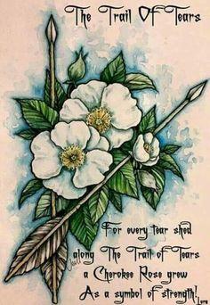 Trail of Tears - Cherokee Cherokee Indian Tattoos, Native American Tattoos, Native American Cherokee, Native Tattoos, Native American Symbols, Tribal Tattoos, Cherokee History, American Indians, Tatoos