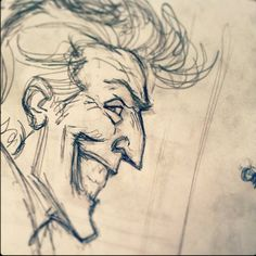 Laff time repost Prelim sketch work from The World According to The Joker. #dcentertainment #insighteditions #joker #jokergang…