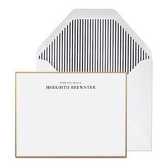 Custom Letterpress Stationery - From The Desk Of