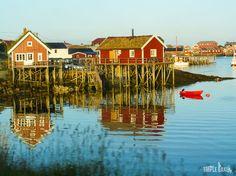 Norvegian village, Lofoten