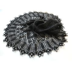 Black Knit Shawl, Knit Shawl, Lace Shawl, Black Lace Shawl, Knit Lace... (420 PLN) ❤ liked on Polyvore featuring accessories, scarves, knit shawl, shawl scarves, lace shawl, lace scarves, lacy scarves and lacy shawl