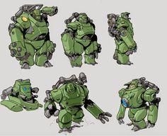 IAIN cartoon character and mechanical equipment illustrations -Ia . Robot Concept Art, Game Concept, Character Concept, Character Art, Character Design, Robot Cartoon, Cool Robots, Robot Design, Transformers