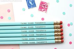 Inspirational Pencil Motivational Pencils Cute Office Decor