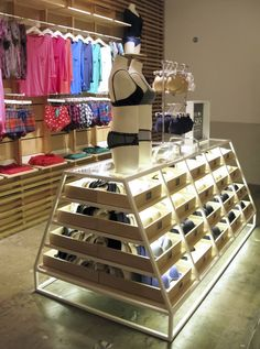 BOUTIQUE Retail Fixtures, Store Fixtures, Retail Store Design, Retail Shop, Lingerie Store Design, Underwear Store, Clothing Displays, Retail Interior, Shop Front Design