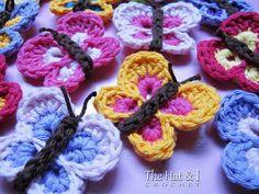 Free Bountiful Butterflies Crochet Pattern #craft #crochet #butterfly #pattern