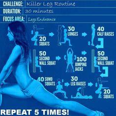 killer leg routine
