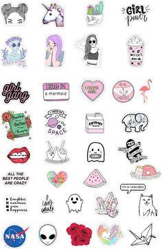 Darmowy plany lekcji + 37 naklejek do pobrania! | Przypadkowe rzeczy Tumblr Stickers, Cool Stickers, Printable Stickers, Planner Stickers, Vsco, Tattoo Flash Sheet, Content Marketing Tools, Snapchat Stickers, Aesthetic Stickers