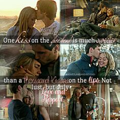 Amy and Ty | Forehead Kisses Parallel Amy And Ty Heartland, Heartland Quotes, Heartland Ranch, Heartland Tv Show, Heartland Seasons, Country Relationships, Relationship Goals, Ty Y Amy, Country Girl Life