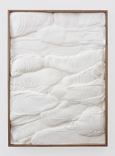 2013, Untitled (Plaster Positive), Anthony Pearson. Hydrocal in walnut artists frame