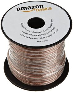AmazonBasics 16-gauge Speaker Wire - 50 Feet - http://www.lowpricecables.com/cell-phone-cables/cell-phone-cables-iphone/ipad-cables/amazonbasics-16-gauge-speaker-wire-50-feet/