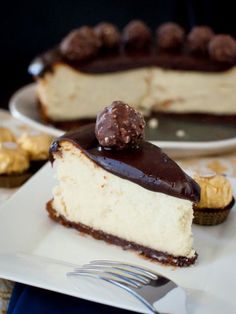 Nutella Ganache Covered Cheesecake recipe
