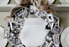 memory wreath, so clever, Aaron Brothers sell these tiny frames.