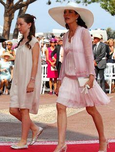 Princesses Caroline de Monaco and Hanover, and Alexandra of Hanover