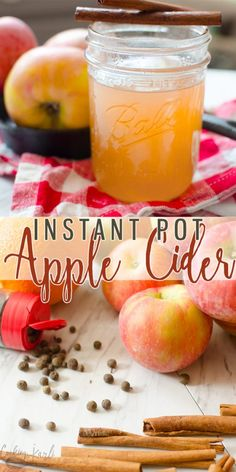Homemade Apple Cider is a delicious festive fall drink that will warm you up from the inside out! The sweet apple flavor mixed with the cinnamon and all-spice make this hot drink cozy and comforting! Perfect for cooler temperatures and fall get togethers! Crockpot Apple Cider, Apple Cider Drink, Warm Apple Cider, Homemade Apple Cider, Spiced Apple Cider, Alcoholic Apple Cider Recipe, Apple Cider Mix Recipe, Making Apple Cider, Apple Wine