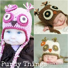 All Things Purdy: {DIY} Crochet Owl Beanie Pattern