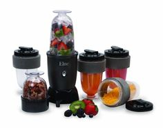 MaxiMatic EPB-1800 Elite Cuisine 300-Watt 17-Piece Personal Drink Blender, Black Make healthy and delicious drinks such as smoothies protein shakes, milk shakes and more. Easy to use one-touch pulse switch. Safety lock system. Chop nuts, grate cheese, grind coffee, blend and mix drinks. Quick and easy clean up. Accessories Include:. BPA Free. Powerful 300 watt motor. Reusable dishwasher safe cups.... #Maximatic #Kitchen