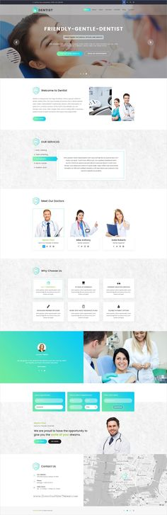Dentist is clean and modern design #PSD template for #dental and #medical website download now..