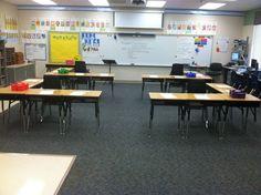 Tables Classroom Desk Arrangements | ... Classroom, Classroom Organizations, Classroom Desks Arrangements