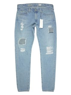 This is a pair of Adriano Goldschmied AG The Nikki - Relaxed Skinny Boyfriend Jean in 18 Years Oceanview Selvedge Size Patch detail differentiates from your regular denims while rolled cuffs show off your favorite heels. Ag Jeans, Skinny Jeans, Adriano Goldschmied, Boyfriend Jeans, 18th, Boutique, Denim, Pants, Fashion