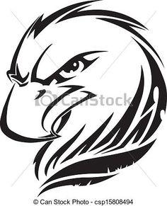 EPS Vectors of Eagle head tattoo, vintage engraving - Eagle head ...