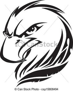 EPS Vectors of Eagle head tattoo, vintage engraving - Eagle head ...