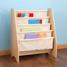Getting children excited about reading isn't always a simple task, but our new Sling Bookshelf makes story time a lot more fun. This shelf is the perfect gift f