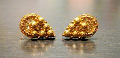 Silver Indian earrings Gold Drop Earrings Indian by NomikaJewelry