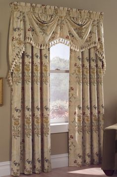 Jewel is an elegant jacquard curtain embellished with detailed flowers & leaves that are embroidered over a satin-like fabric.  #Rod #Pocket #Panel