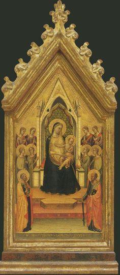 Uffizi Gallery. BERNARDO DADDI. Madonna Enthroned. 1334: