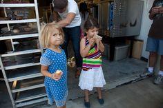 Bea & friend, Sidecar Doughnuts, Costa Mesa, CA