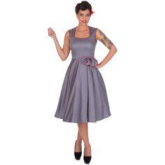 Šaty Dolly and Dotty Harriet Silver Red  Krásné šaty ve stylu 50. let za ještě lepší cenu. Vhodné na večírky, plesy, svatby či jiné společenské události. Moc pěkné šaty v decentní šedé barvě s úzkým červeným lemem a mašlí u pasu, v pase příjemně projmuté (nepřidávají objem), decentní nabrání pouze k jedné straně. Pěkný výstřih, zapínání na krytý zip v zadní části, krásně padnou, příjemná, silnější, strečová bavlna (95% bavlna, 5% elastan). Pro dokonalý a bohatý vzhled sukně doporučujeme…