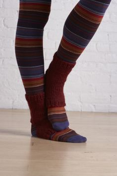 crochet and knit Stirrup Socks-lion brand-free pattern-skill level easy+