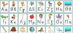 Τα γράμματα του ελληνικού αλφάβητου σε αφίσες Alphabet, Blog, Comics, Alpha Bet, Comic Book, Cartoons, Comic Books, Graphic Novels