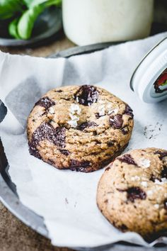 Best Ever Chocolate Chip Cookies with herb-infused butter and fleur de sel