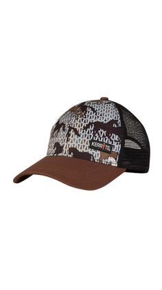 TRUCKER RIDE CAP Graphite Horses #30316 $24.00 Top yourself in style with fun Kerrits prints. The wide brim shades your face while the adjustable mesh back cools and ventilates. Promote your own style with a sassy lid in a pattern you love.