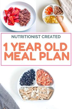 Step by step feeding schedule for you 1 year old with breakfast, lunch and dinner recipes (healthy, easy to make). With good amounts of protein, carbohydrates, fruits, vegetables. #1yearoldbaby #newmom #motherhood #parenting